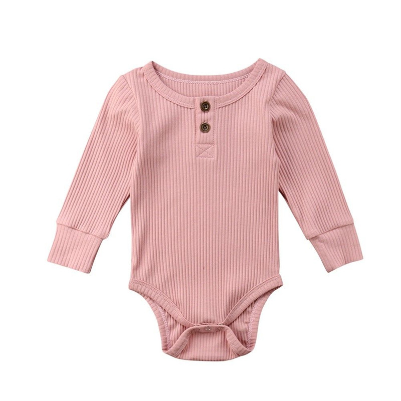 Newborn Infant Cute Cotton Long Sleeve Unisex Bebe Boy Girls Bodysuit Baby Clothing Leotard Body Tops(China)