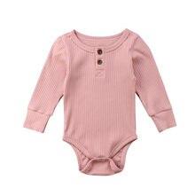 baa698460 Recién Nacido bebé lindo algodón manga larga Unisex Bebe niño niñas  Bodysuit ropa de bebé leotardo Body Tops