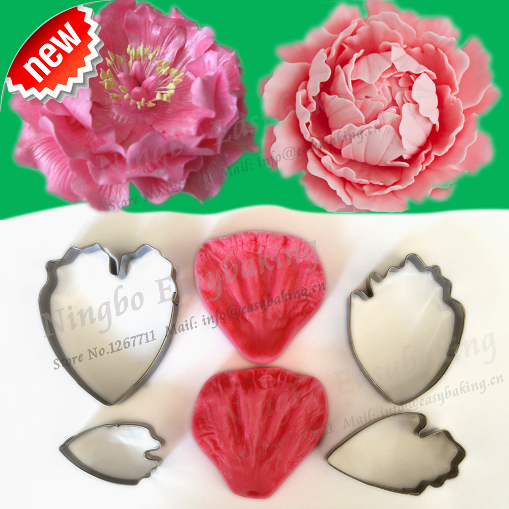 2015 New Arrivel Flower-Making Accessories Аксессуарлар Stainless Steel Gum Pony Peony Flower Petal Cutter Силикон Винер
