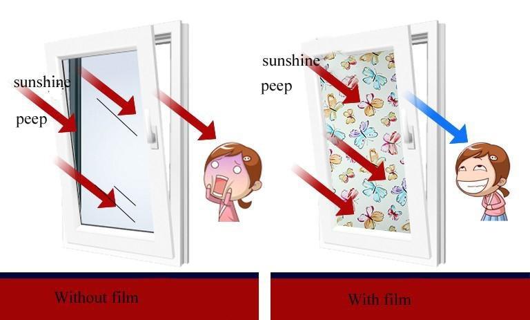 Tulip Flower Static Cling Decorative Privacy Etched Gl Window Film Vinyl 45x100cm 17 7x39