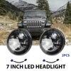 2 Pcs 7 Round Headlight 75W 35W Auto Led Driving Light H4 Hi Lo 12V 24V