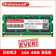 Ноутбук ANKOWALL DDR3 2GB 4GB 8GB 1066 1333 1600 MHz sodimm ddr3l ram память ноутбука 204pin 1,5 V/1,35 V гарантия три года
