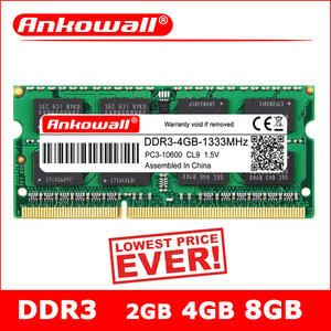 ANKOWALL Notebook Memory Laptop 1333 1066 Ddr3l Ram 1600-Mhz Sodimm 8GB 204pin 4GB 2GB