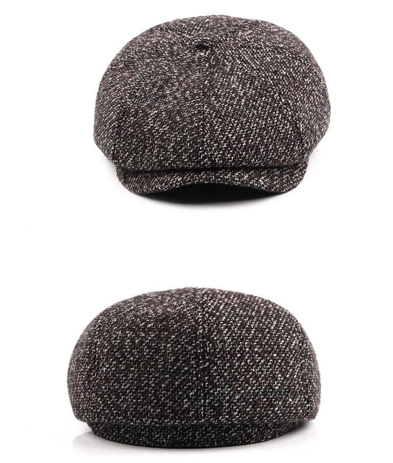 2019 Old Men Winter Flat Cap Outdoor Thick Warm Male Earflap Beret ... 5bf60f7fb00f