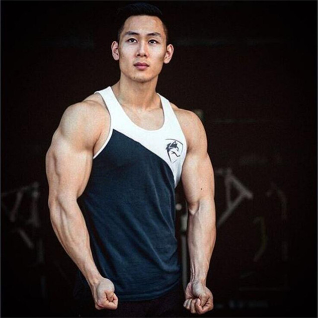 NANSHA 2018 Summer Newest Brand Mens Patchwork Gyms Stringers Vest Bodybuilding Clothing Fitness Men Tanks Tops