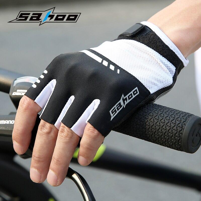 Prix pour SAHOO 2017 vélo gants demi doigt été vtt vélo vélo gants de silicium Gel pad vélo gant pour hommes femmes respirant