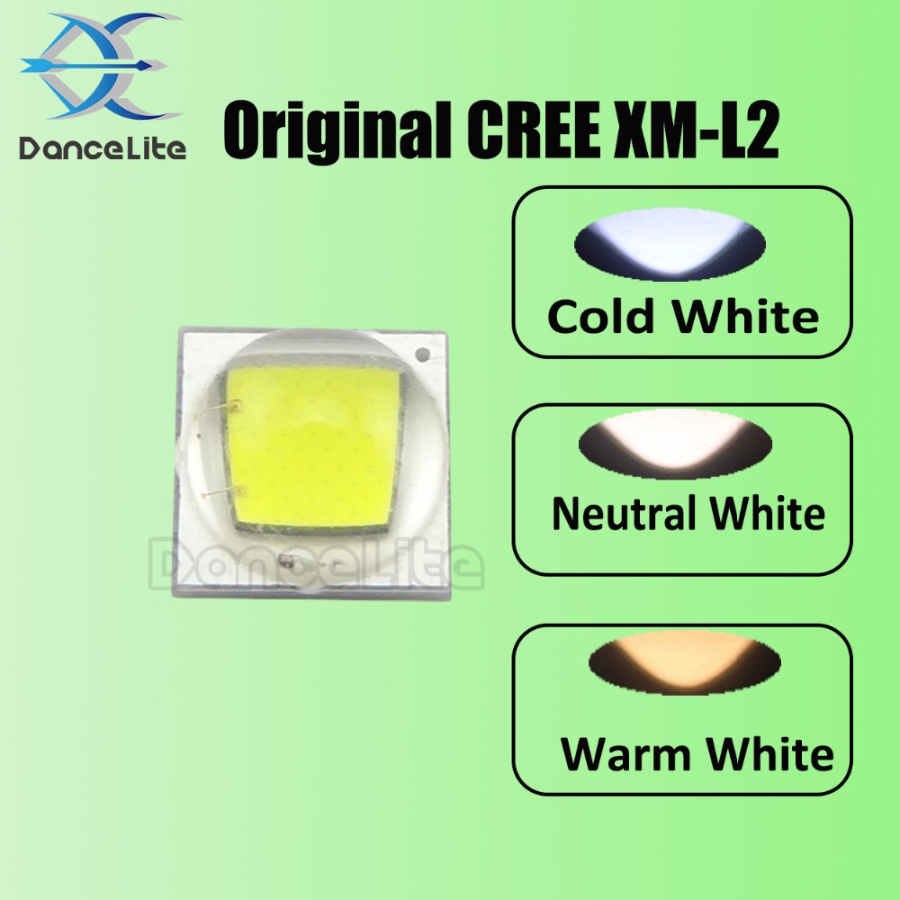 Home original cree xm l2 xml2 led emitter lamp light cold white - 3pcs Dancelite Original Cree Xm L2 Xml2 10w Led Chip Emitter Beads