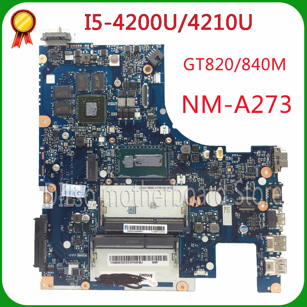 SHUOHU G50-70M For Lenovo G50-70 Z50-70 i5 motherboard ACLUA/ACLUB NM-A273 Rev1.0  with graphics card 100% tested for lenovo g50 70 i5 motherboard aclua aclub nm a273 rev1 0 840m 2gb video card with graphics card 100
