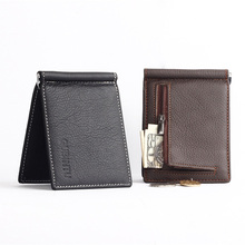 Genuine Leather Men Wallets Business Men Purses Brand Designer First Layer Cowhide Male carteira masculina–BID066 PM49