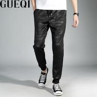 GUEQI Camouflage Printed Men Fashion Pants Plus Size M 4XL New Model Elastic Waist Men Black
