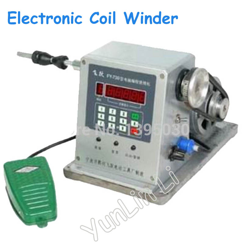 CNC Electronic Winding Machine Coil Winder with Diameter 0.03 -1.80mm Coil Winding Machine FY-730 micro computer cnc automatic coil winding machine coil wire winder ds 200a