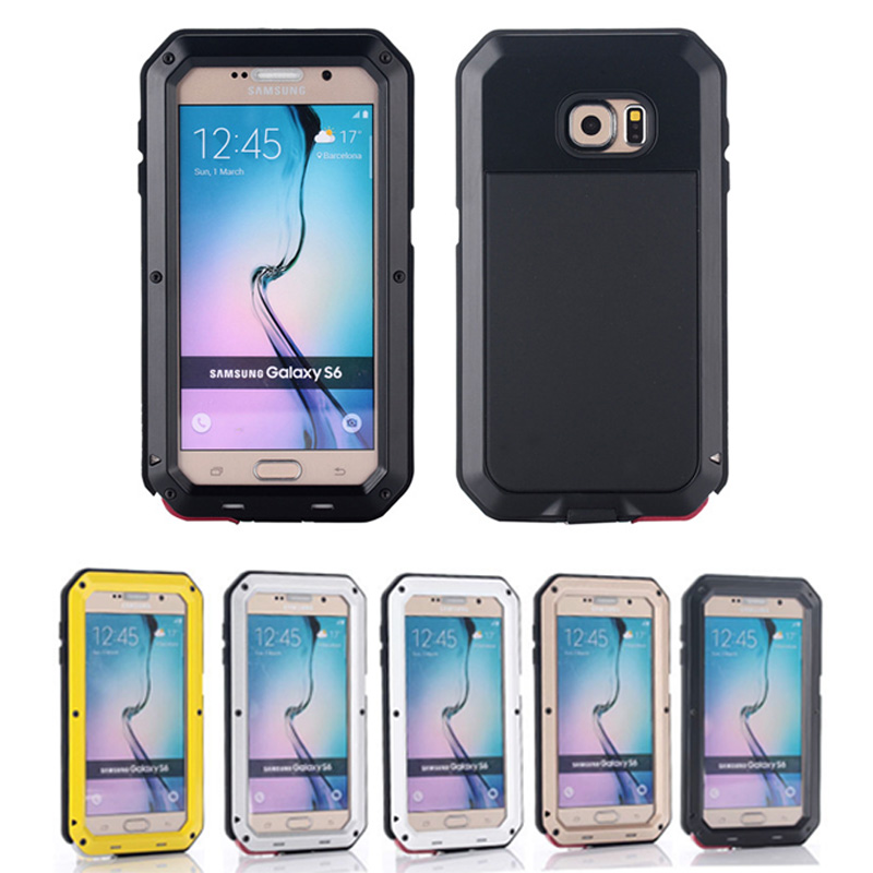 Metal Extreme Shockproof Military Heavy Duty Tempered Glass Cover Carrying Case For Samsung Galaxy S6 G9200