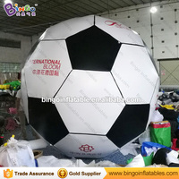 Free shipping 3M dia inflatable football model for decoration customized inflatable soccer ball with logo for advertising toys