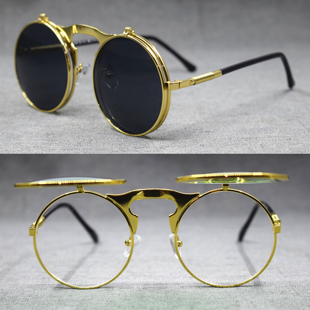 125-250 The Cheapest Price Vintage Round Silver 42mm Pure Titanium Harry Potter Metal Eyeglass Frames Full Rim Myopia Glasses From 300-600 A Great Variety Of Models