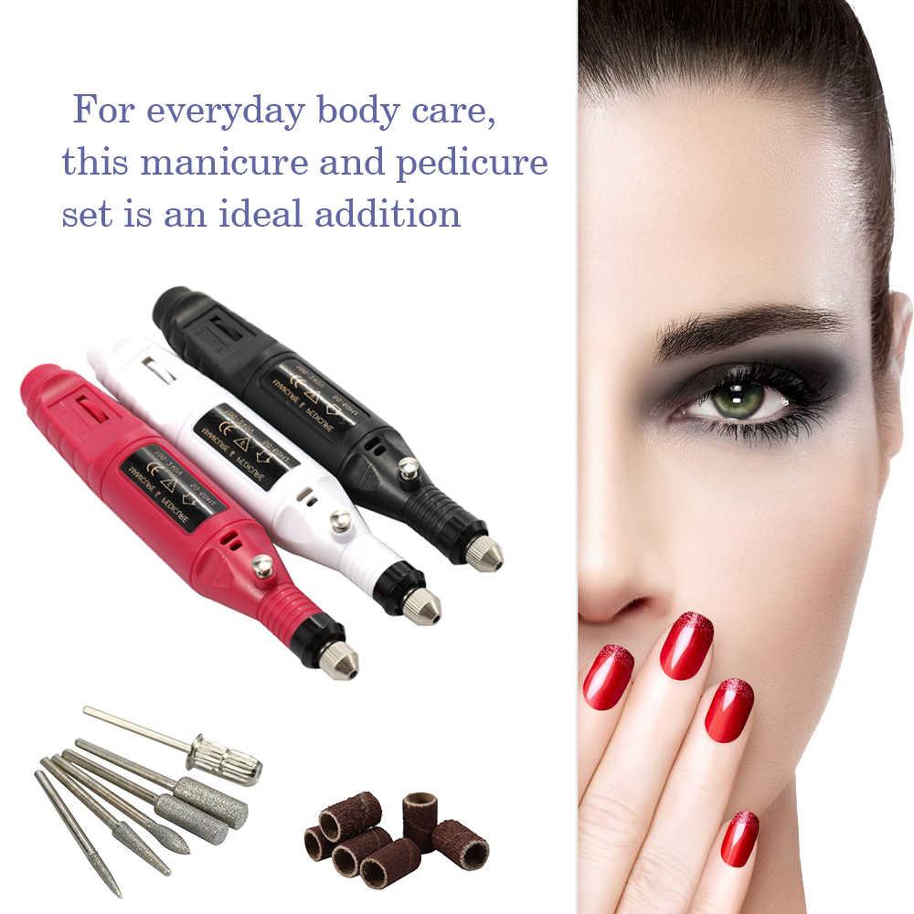 Mini Elektrische Grinder Boor Frees Set Nail Gel Polish Verwijderen Boor Manicure Machine Slijpen Rotary Tool Kit