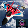 MIG29 MIG-29 2 CH Fixed Wing Glide Fighter of 2.4g 500M Remote Control Airplane W/30w HD Camera Aircraft  Toy