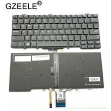 GZEELE – clavier américain d'ordinateur portable, pour DELL Latitude E5280 5288 5289 7280 7380 E7220 7290, rétro-éclairage noir