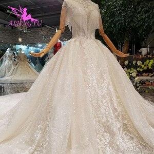 Image 5 - Простое свадебное платье AIJINGYU, свадебное длинное белое фольклорное платье в стиле бохо, винтажное свадебное платье, роскошное