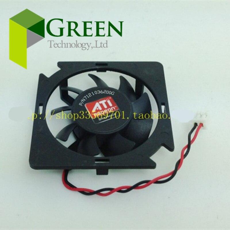 POWER LOGIC DC12V 1 2W for ATI AMD HD5450 XFXGeforce210 Graphics Card Fan PLA04710S12M 2pin