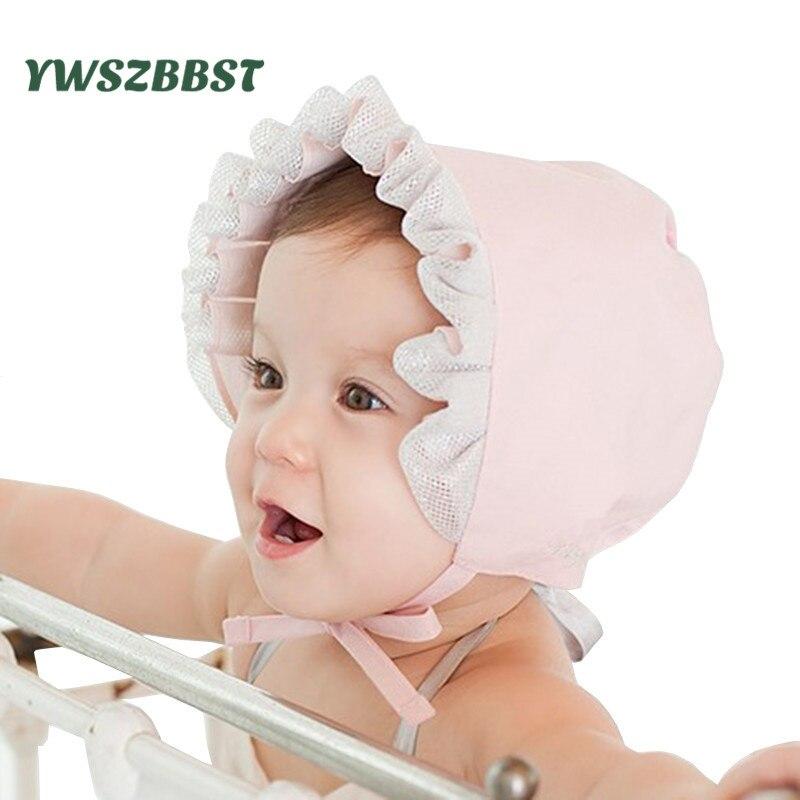 Младенческой Защита от Солнца шляпа для маленьких девочек шляпа серебро Кружево маленьких Кепки милой принцессы Обувь для девочек детские ...