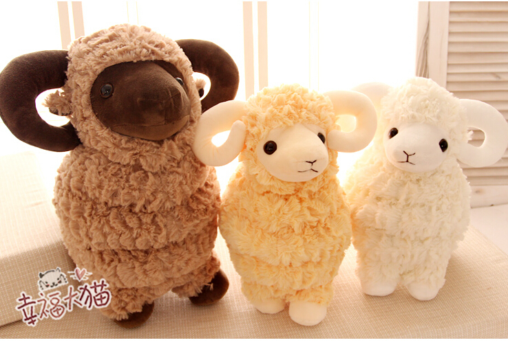 Gift for baby 1pc 35cm cute pure gawk lucky sheep bed pacify plush hold doll novelty children kids girl birthday stuffed toy