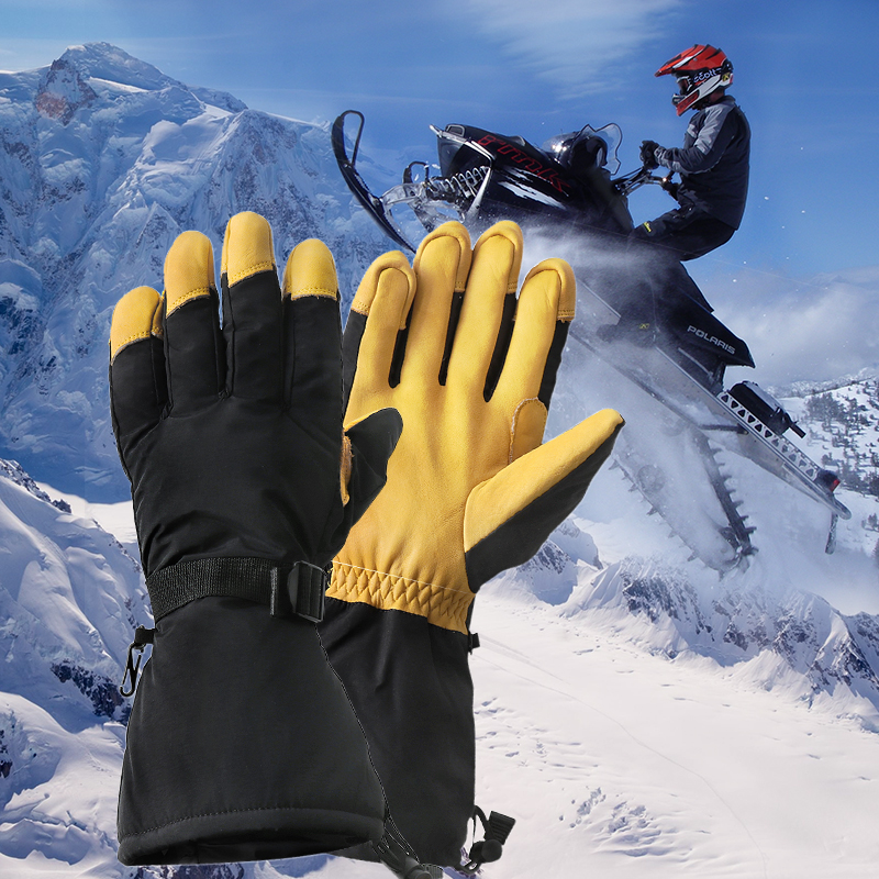 KEMiMOTO Warm Ski Snowboard Skiing Gloves Motorcycle Riding Winter Gloves Windproof Waterproof Snow Glove Men Women leather цена