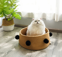 Nordic Cat House Summer Four Seasons General Purpose Net Red Cat, Cat Bed, Cat House Villa Small Dog House Pet Supplies