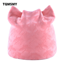 TQMSMY 2017 Women S Winter Knitted Caps For Ladies Lovely Cat Ear Beanies Cap Hat Women