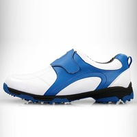 Golf Shoe Mens Sports Soft Leather Non Slip Nails Golf Shoes Sneakers Man Breathable Fitness Training Footwear #B1332