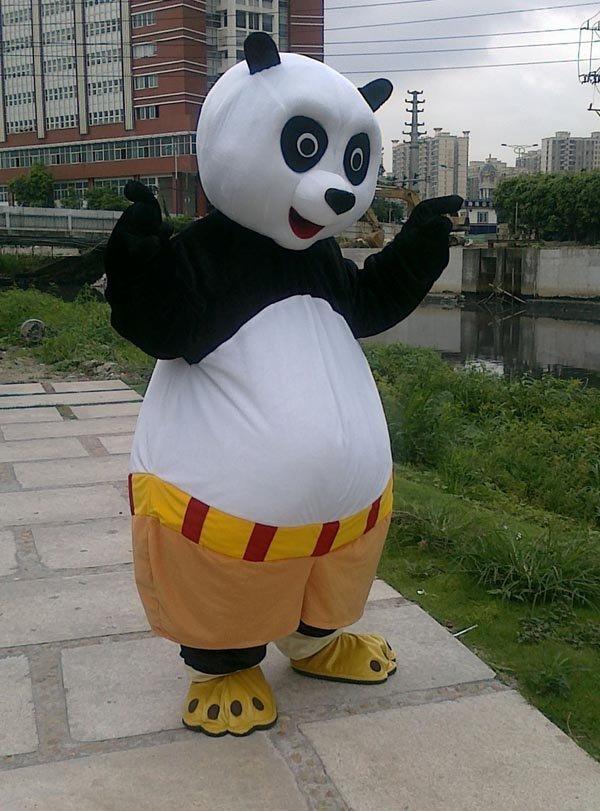 ohlees gong fu panda mascot costumes christmas halloween fancy dress adult size custom made free shipping - Kung Fu Panda Halloween