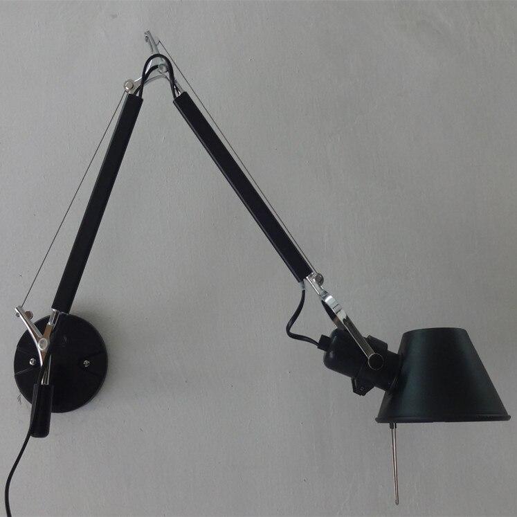 decorative wall sconces swing arm bedside lamp modern led wall light. Black Bedroom Furniture Sets. Home Design Ideas