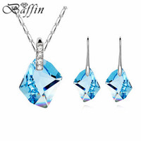 2015 High Quality Jewelry Sets Made With Swarovski Elements Crystal From Swarovski Necklace Earrings Women Accessories