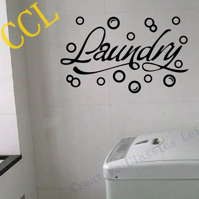 Free Shipping Modern Home Wall Stickers Laundry Room Decor   Bubbles Laundry  Room Wall Decals Vinyl Wall Art Part 94