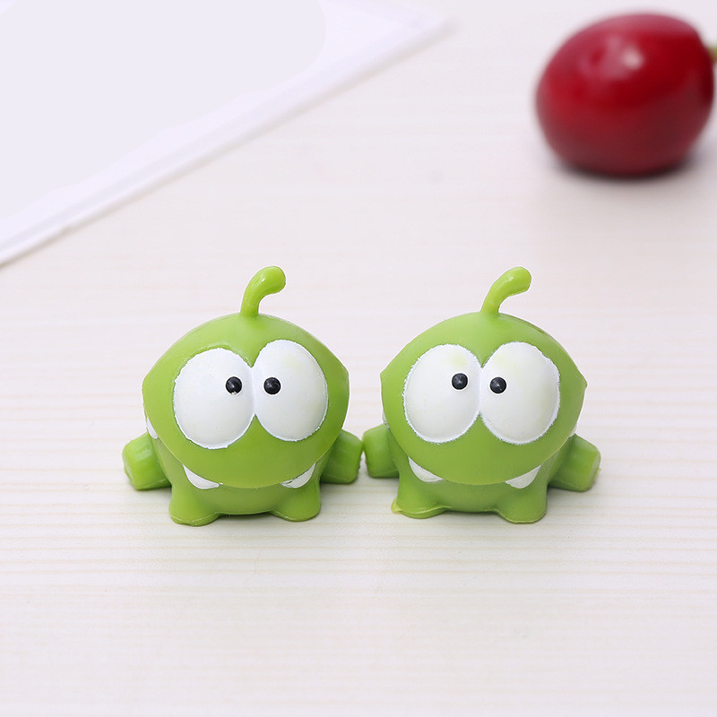 Om Nom Frog Resin Toys Cut the Rope Action Figures Model Cut the Rope Figure 5pc
