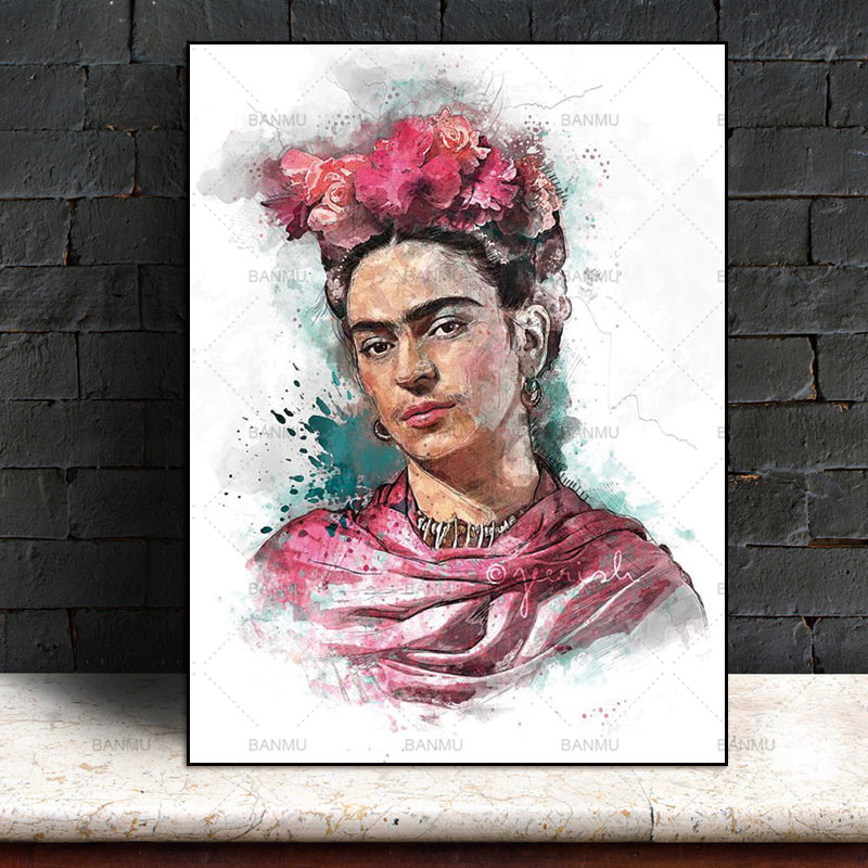 Picture Prints Artist Frida Kahlo on canvas home decor Canvas