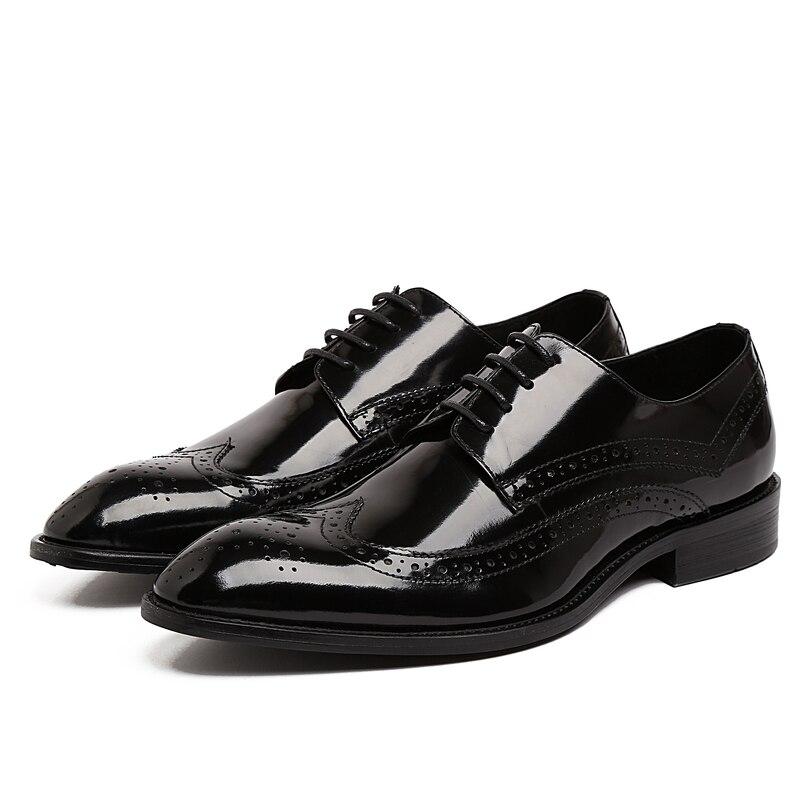 EU38-44 Men's Oxfords shoes Genuine Leather Handmade Lacing Round Toe Wedding Dress Brogue Shoes formal shoes for men men party shoes oxfords 2015 hot men s genuine leather shoes brand sapato masculino couro social round toe palladium shoes 38 46