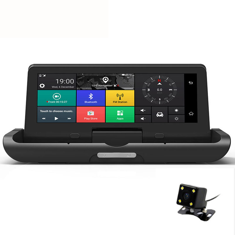 Dealcoo 4G 7 'voiture DVR miroir enregistreur vidéo écran tactile caméra tableau de bord ADAS Wifi Android 5.1 avec GPS voiture enregistreur caméra de recul