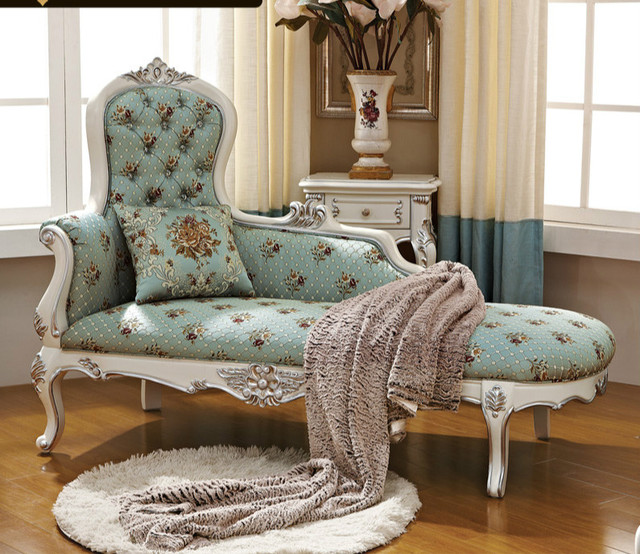 Bedroom Chair The Best Home Master European Royal New Classic Chaise Longues Beauty Couch Wood