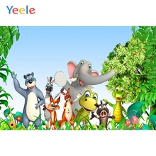 цены на Yeele Cartoon Animals Safari Zoo Forest Photography Backdrop Children Birthday Party Green Photographic Background Photo Studio  в интернет-магазинах