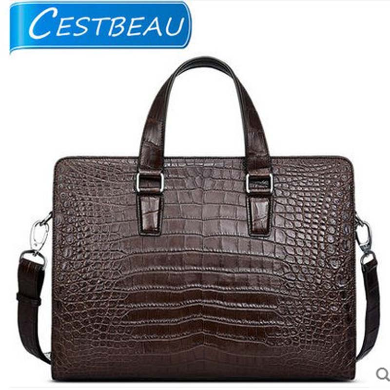 2018 Cestbeau whole leather crocodile skin belly men's bags men handbag business men bags single shoulder briefcase maibomengnuo authentic crocodile skin wallet belly belly fashionable contracted men thin money clip upright money