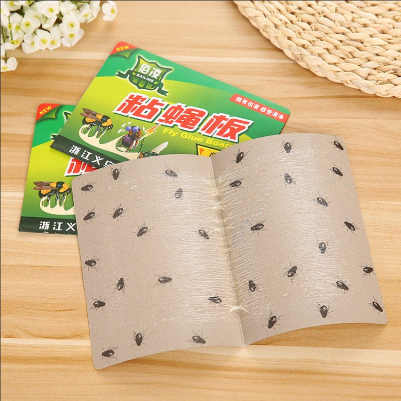 10pc Strong Silverfish Trap Sticky Board Glue Safe Non-toxic Mosquito Buzz Fruitfly Flies Bug Catcher Killer Pest Control Device