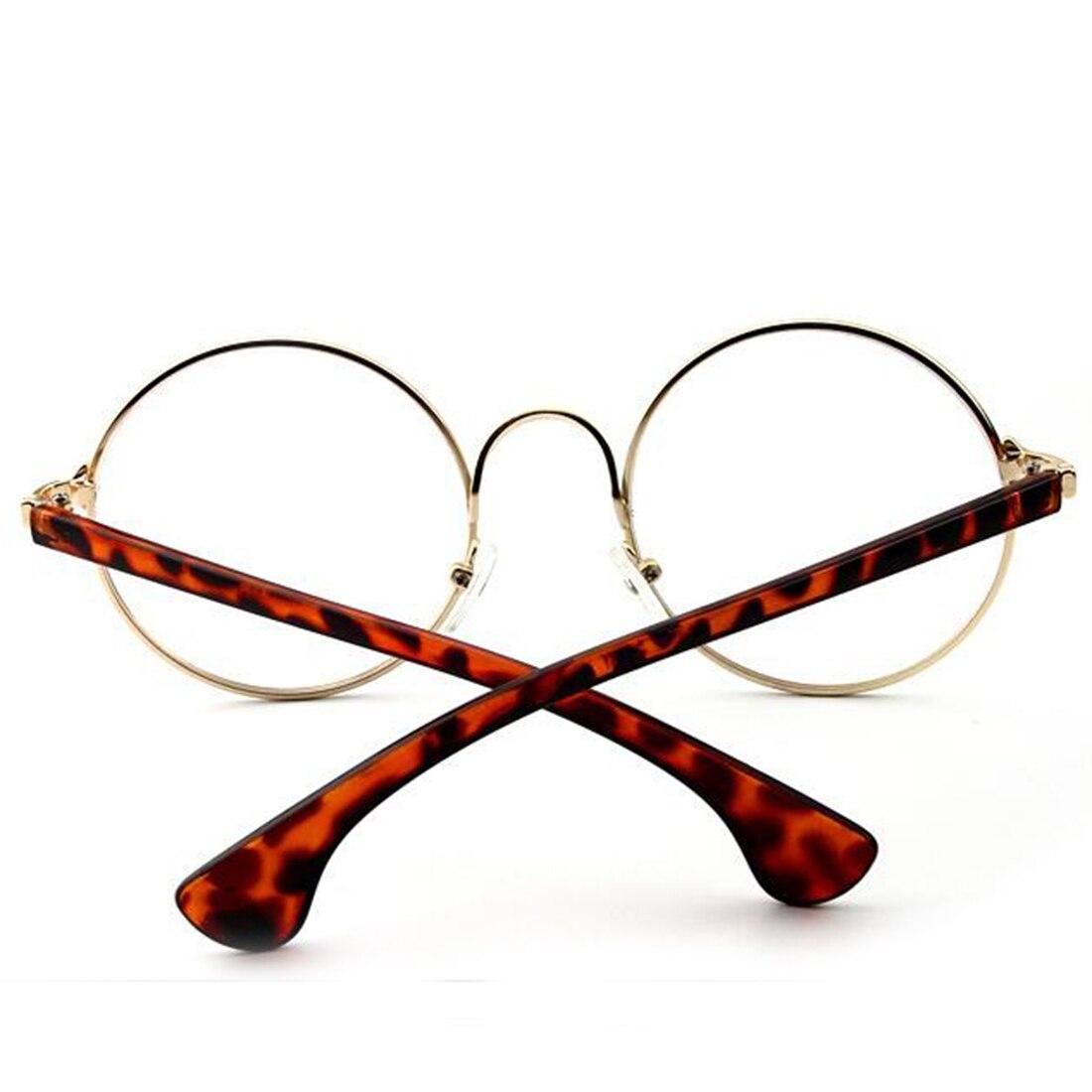 Trendy Runde Klare Linse Brillen Brillen Metallrahmen Gläser Für ...