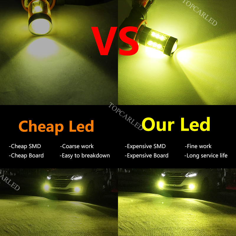 Boodlied 2pcs H11 Led Bulb Fog Lamp