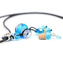 Цветные Бутылочки для эфирных масел кожаные ожерелья с кулоном