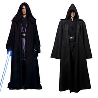 Takerlama Unisex Halloween Star Wars Jedi Sith Knight Cloak Cosplay Adult Kids Hooded Robe Cloak Cape