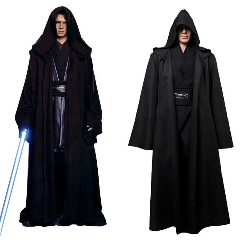 Unisex Halloween Star Wars Jedi/Sith Knight Cloak Cosplay Adult/Kids Hooded Robe Cloak Cape Halloween Cosplay Costume Only Cape
