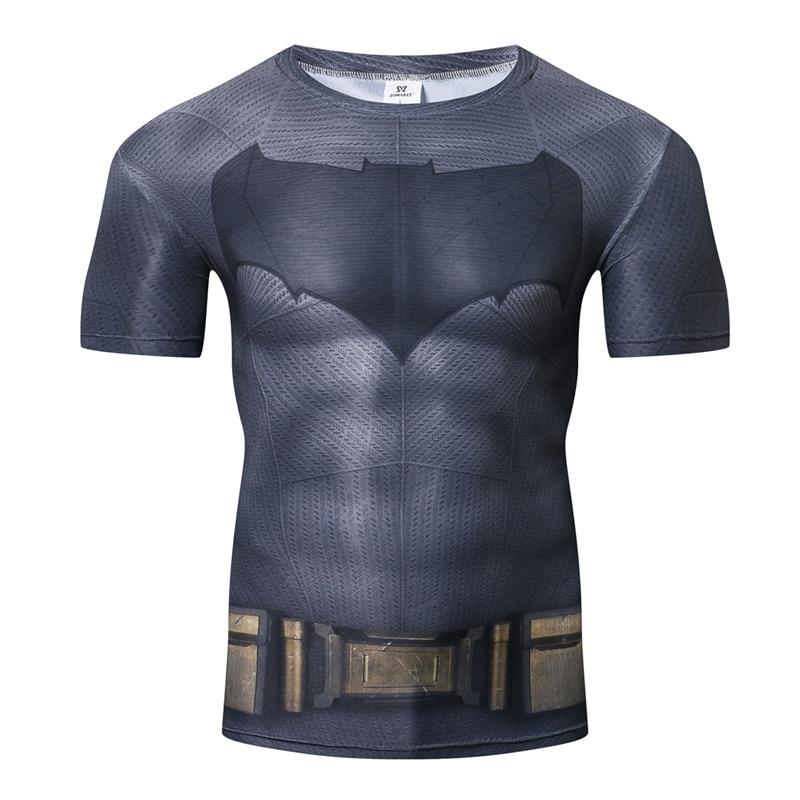 Disfraces de Halloween Batman Tight Bodybuilding camiseta de la compresión de los hombres de manga corta ropa S-4XL