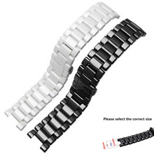 High Quality Watchband  20*11mm 18*10mm Black White Ceramic Watch Band Strap Bracelets For Mens Women Lady CK/GCWatches Replace