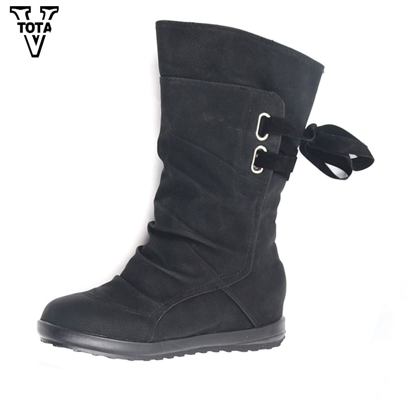 VTOTA 2017 Brand Women Boots Winter Botas Feminina Platform With Shoes Woman Breathable Fashion Autumn Women Shoes Mid-Calf W58 zonerich thermal printer head b 58gk 58mk ecr800 1200 1000af 2000af pos machine compatible ftp 628mcl101 sii z245m printhead