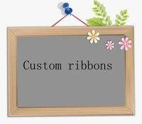 100 yards custom ribbon printed Grosgrain ribbon Multi-size cartoon advertising logo rib ribbon custom